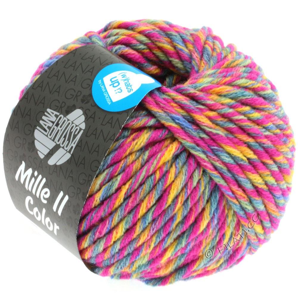 Lana Grossa MILLE II Color/Moulinè   802-Zyklam/Goldgelb/Graugrün/Jeans meliert