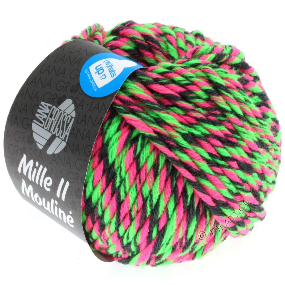 Lana Grossa MILLE II Color/Moulinè   602-Neonpink/Neongrün/Anthrazit