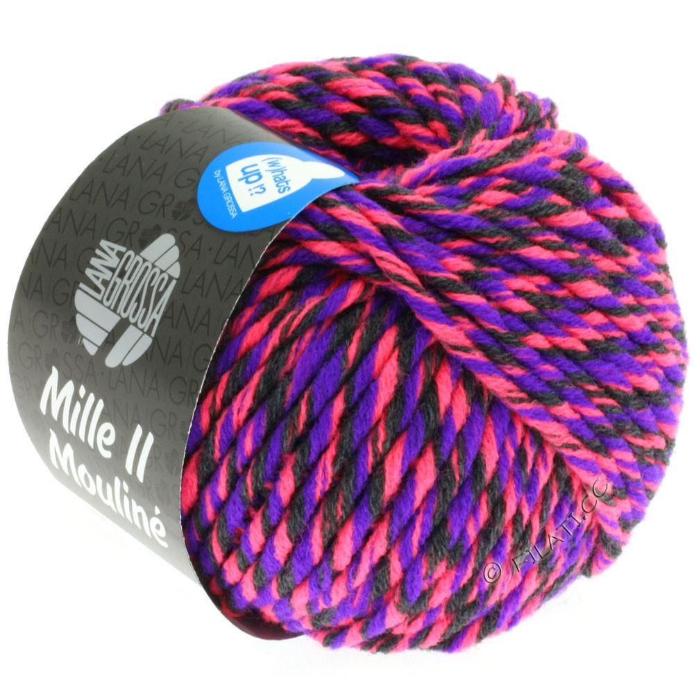 Lana Grossa MILLE II Color/Moulinè   606-Neonpink/Violett/Anthrazit