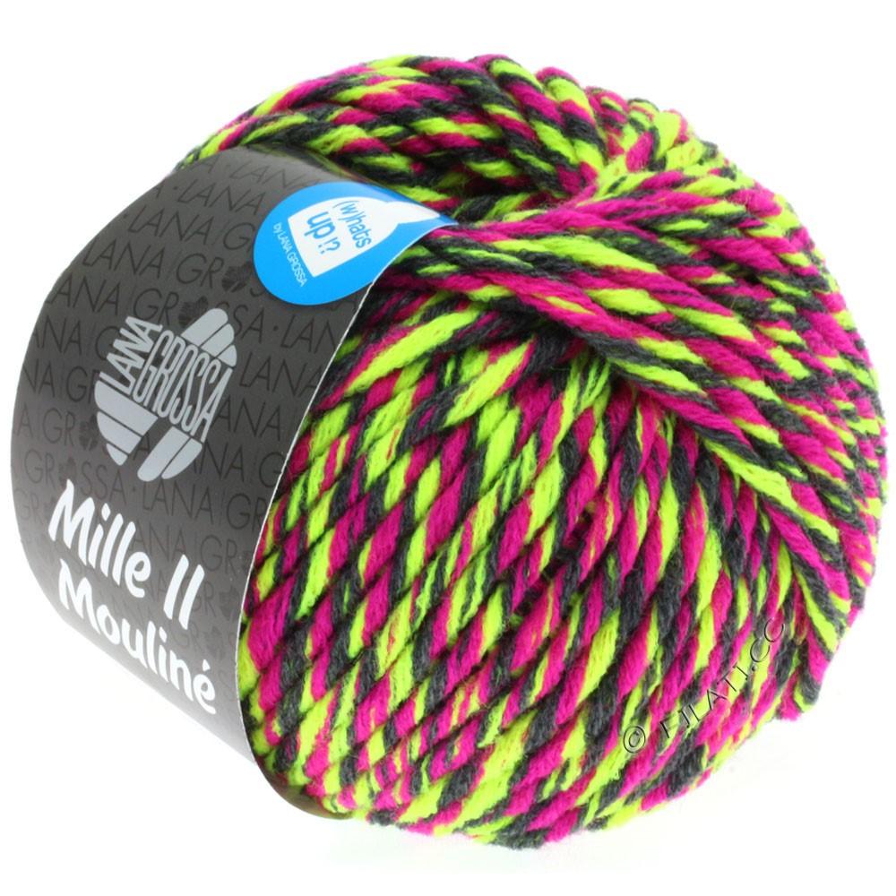 Lana Grossa MILLE II Color/Moulinè   607-Neongelb/Zyklam/Anthrazit