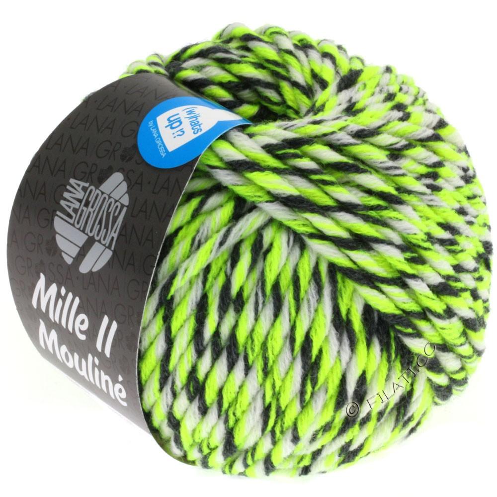 Lana Grossa MILLE II Color/Moulinè   608-Neongelb/Weiß/Anthrazit