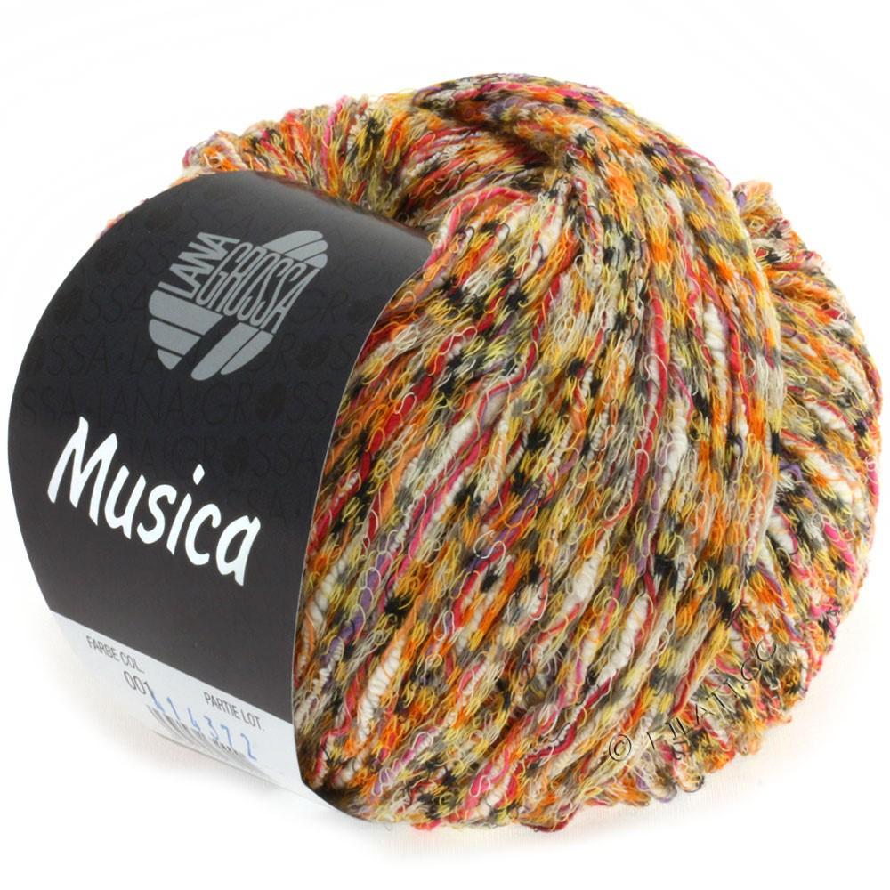 Lana Grossa MUSICA | 01-Orange/Gelb/Pink/Grau/Weiß