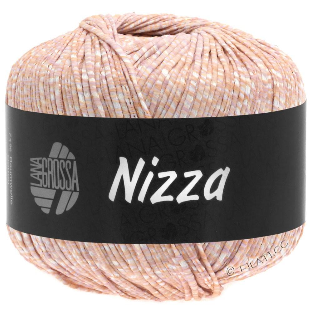 Lana Grossa NIZZA | 03-Weiß/Pfirsich/Kupfer
