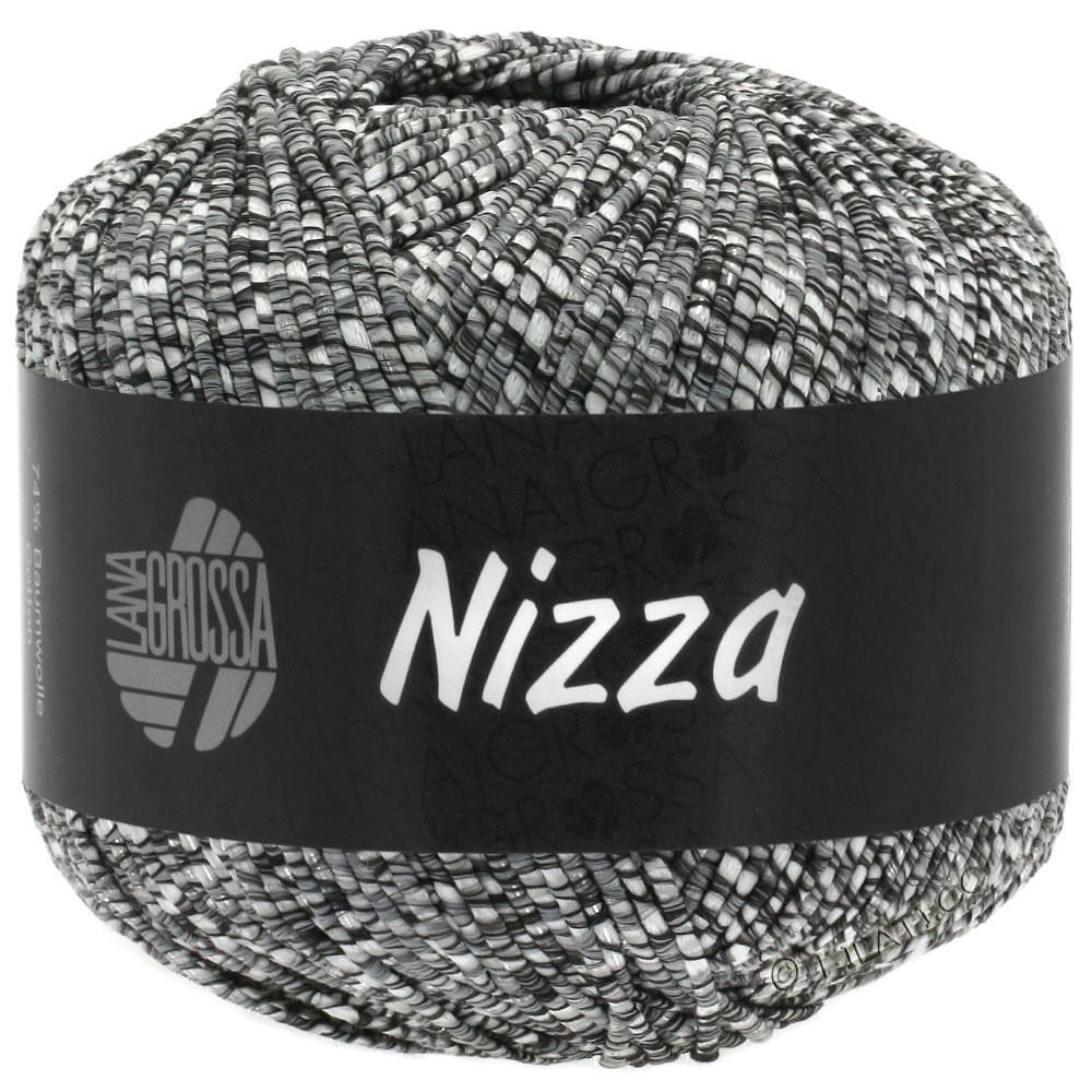 Lana Grossa NIZZA | 11-Natur/Dunkelgrau/Silber