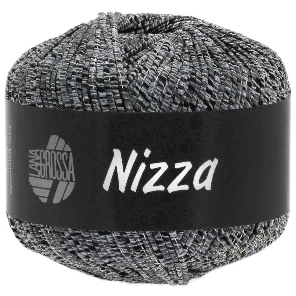 Lana Grossa NIZZA | 12-Hellgrau/Schwarz/Silber