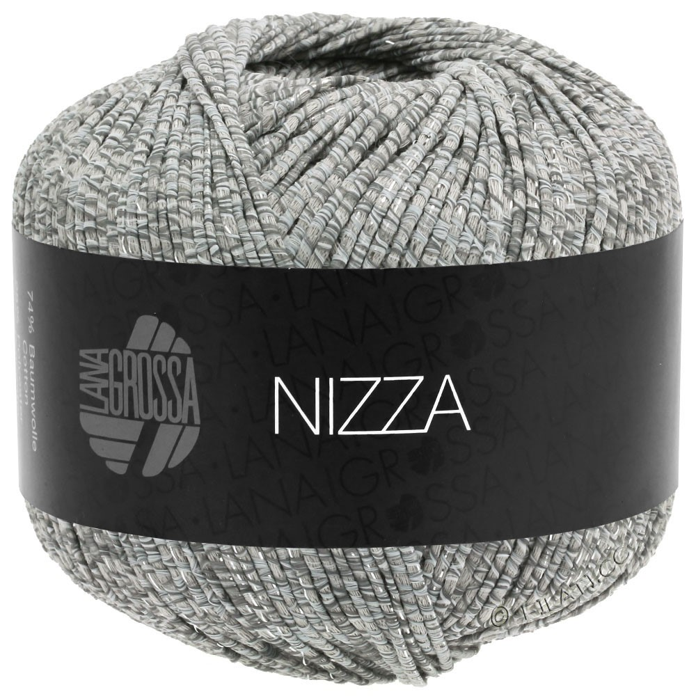 Lana Grossa NIZZA | 13-Weiß/Grau/Beige/Silber