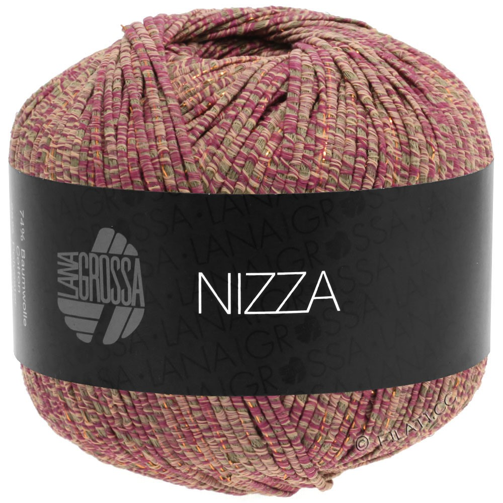 Lana Grossa NIZZA | 15-Orientrot/Taupe/Rosa/Gold