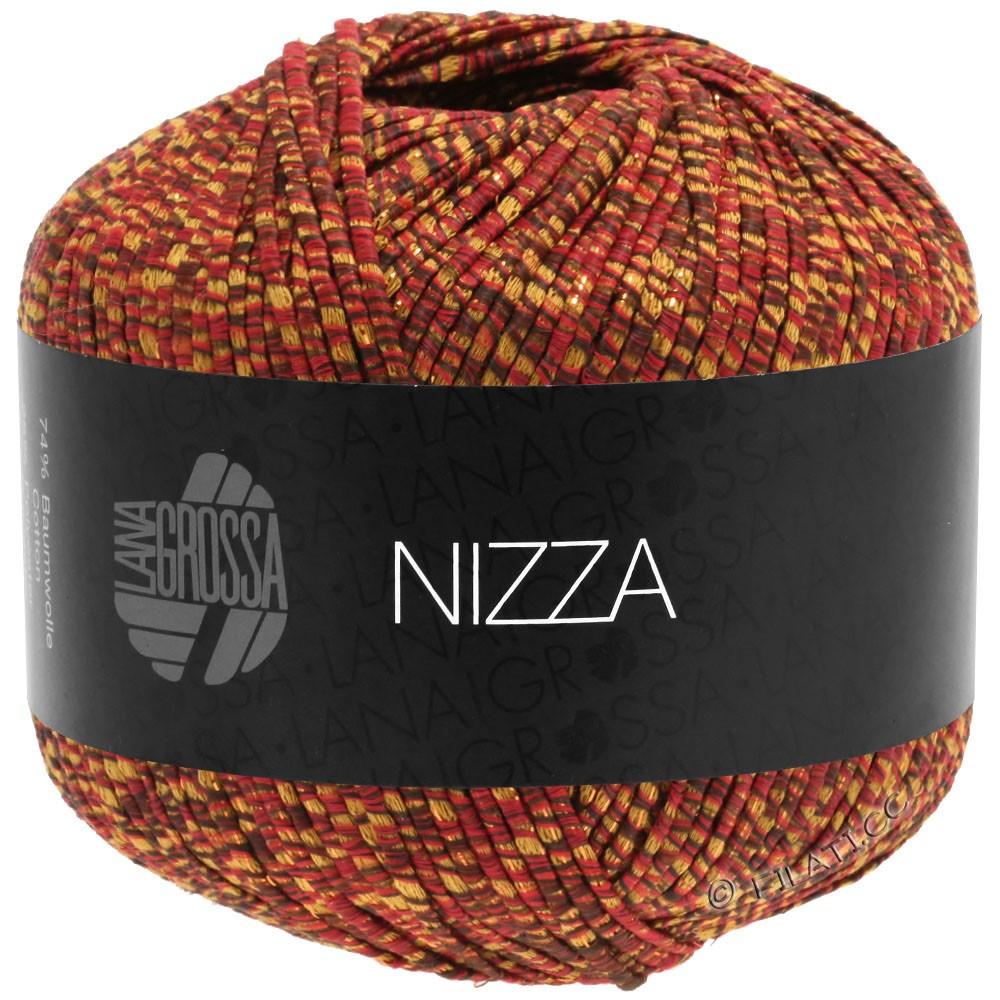 Lana Grossa NIZZA | 16-Burgund/Senfgelb/Gold