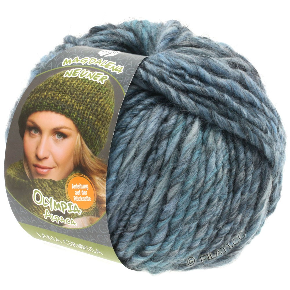 Lana Grossa OLYMPIA Alpaca | 901-Hellblau/Graublau/Jeans meliert