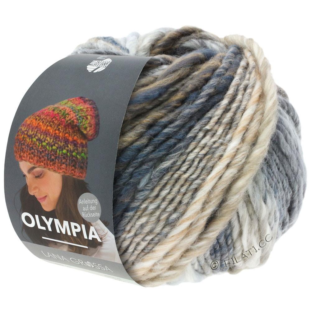 Lana Grossa OLYMPIA Classic | 026-Rohweiß/Hellgrau/Mittelgrau/Dunkelgrau/Taupe