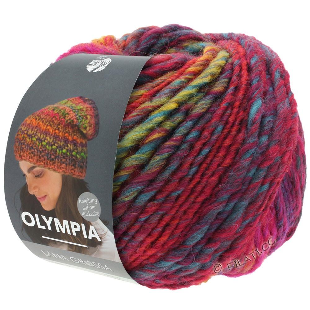 Lana Grossa OLYMPIA Classic | 062-Petrol/Burgund/Dunkelrot/Terracotta/Royal/Weinrot