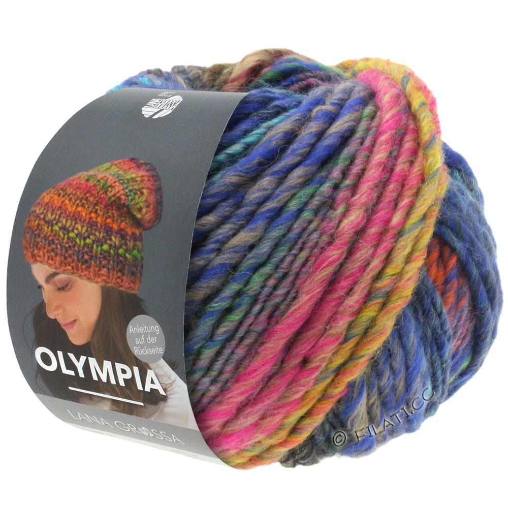Lana Grossa OLYMPIA Classic | 065-Senfgelb/Grau/Royal/Orangebraun/Marine/Hellgrün