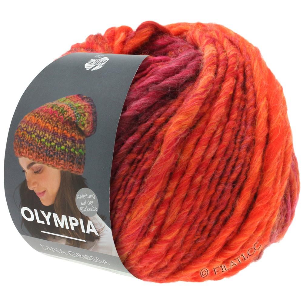 Lana Grossa OLYMPIA Classic | 070-Rot/Orange/Kirschrot/Weinrot