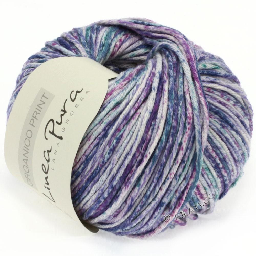 Lana Grossa ORGANICO Print (Linea Pura) | 206-Natur/Violett/Petrol/Jeans