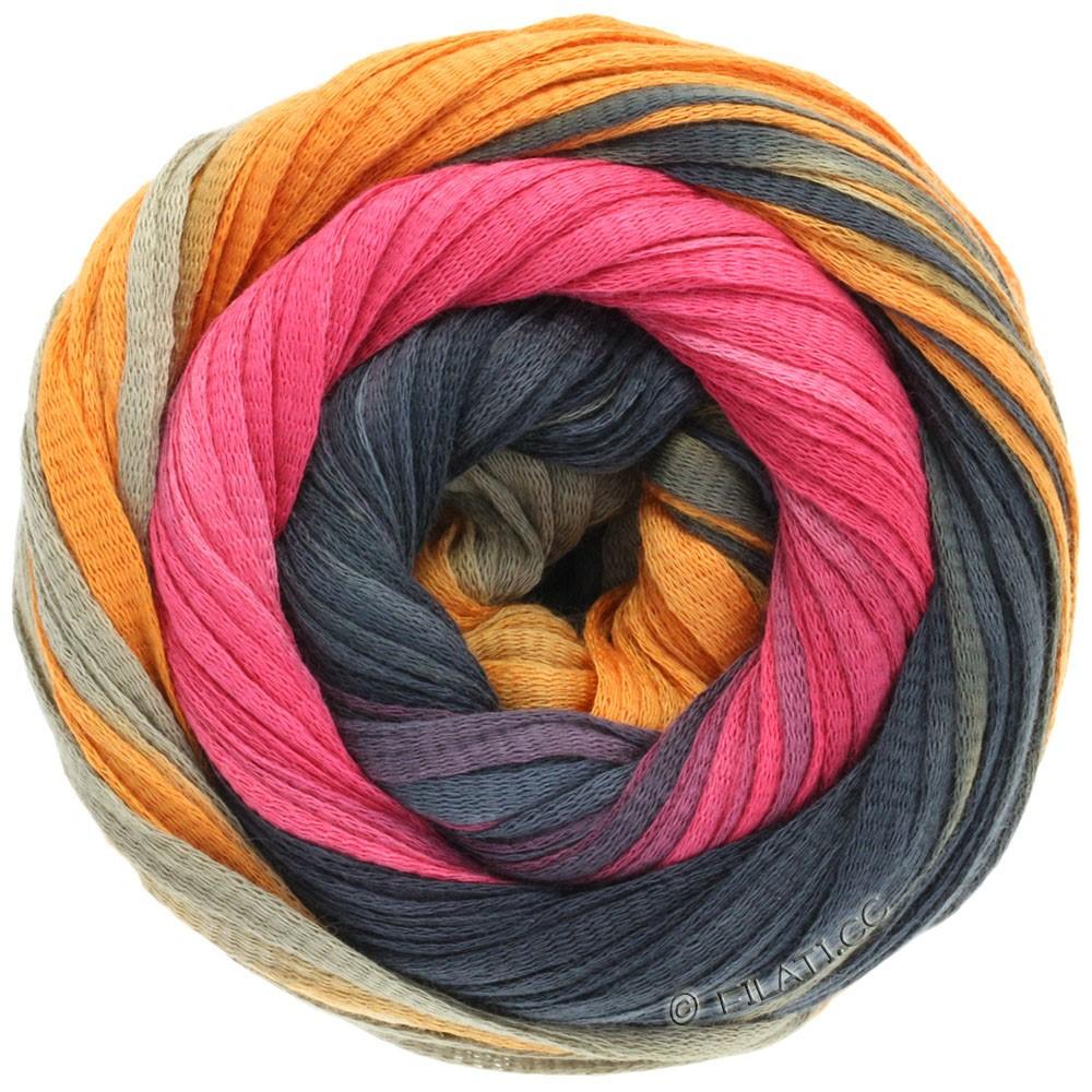 Lana Grossa PRIMAVERA | 115-Khaki/Orange/Schwarzgrau/Pink
