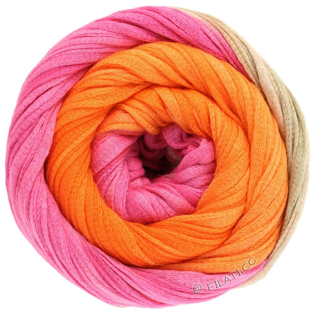 Lana Grossa PRIMAVERA | 117-Pink/Perlbeige/Orange