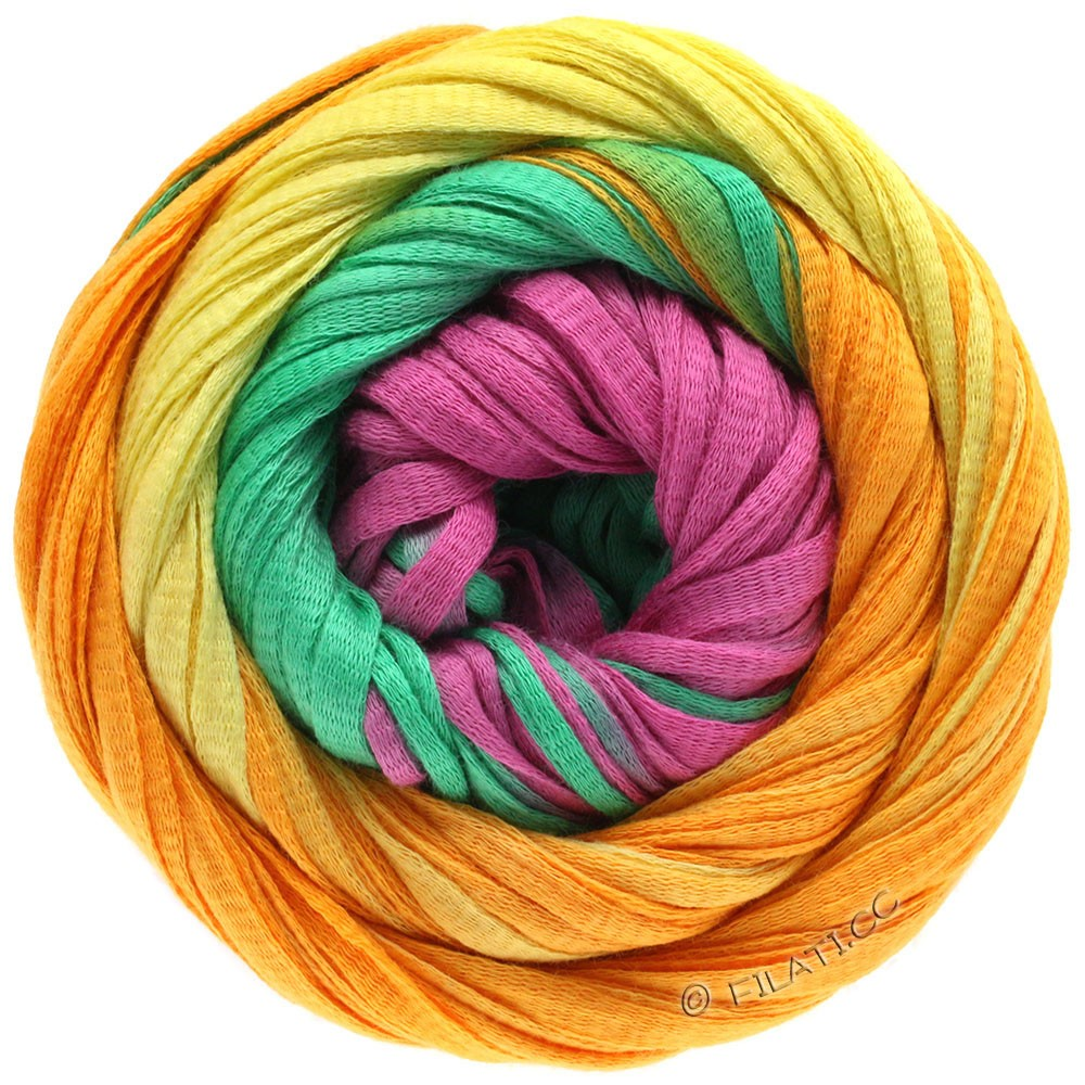 Lana Grossa PRIMAVERA | 124-Gelb/Orange/Smaragd/Pink