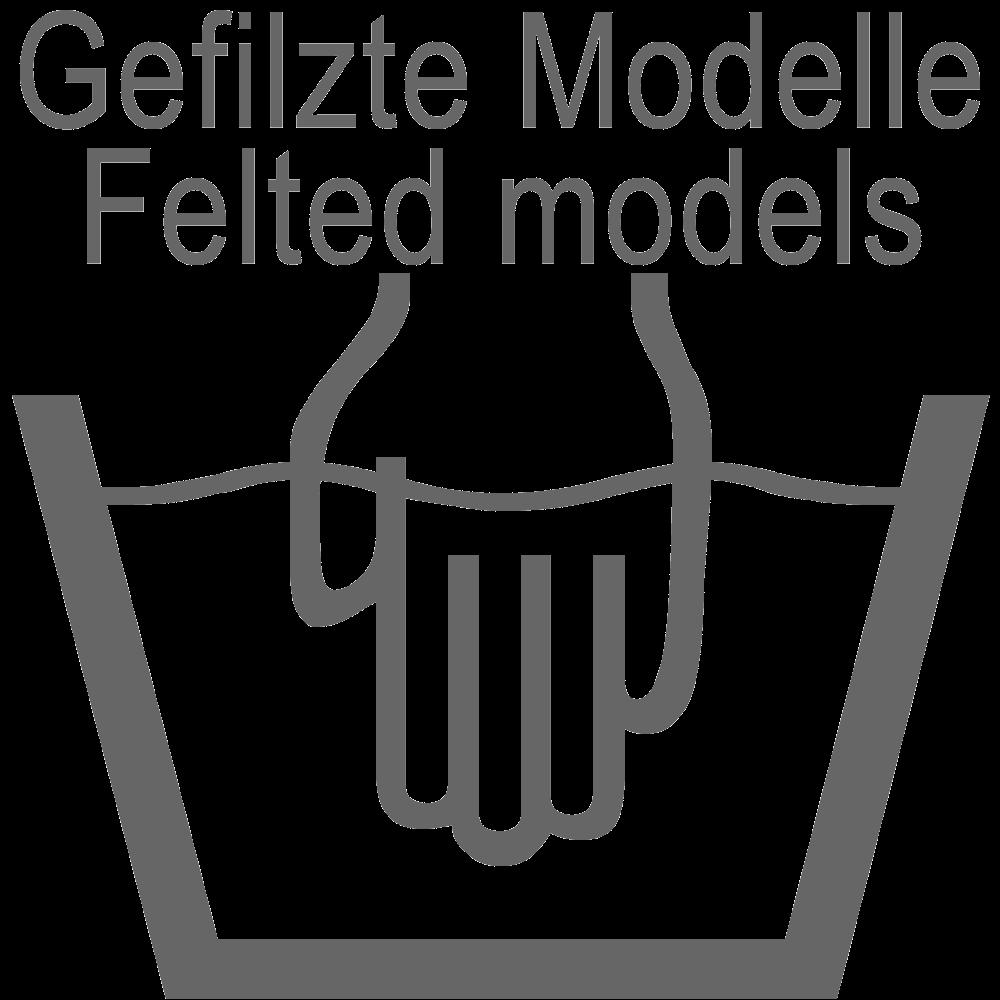 Für gefilzte Modelle: Handwäsche