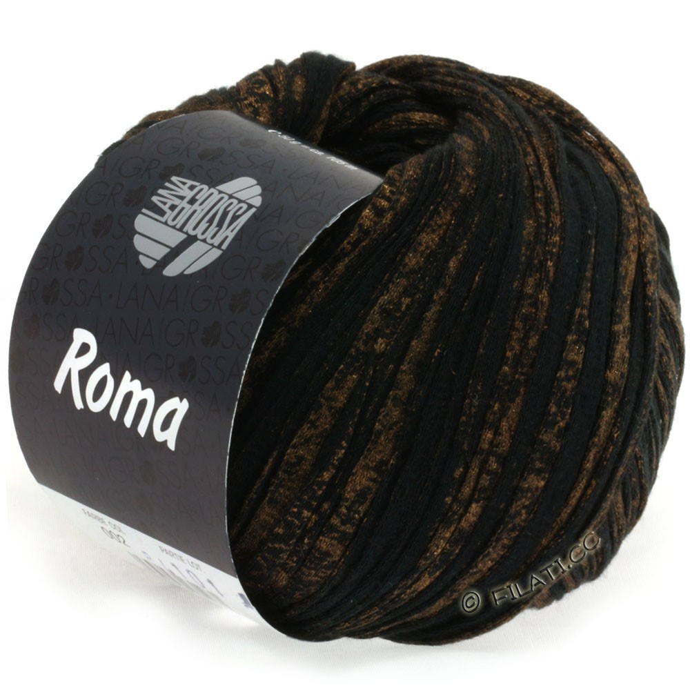 Lana Grossa ROMA | 002-Schwarz/Gold