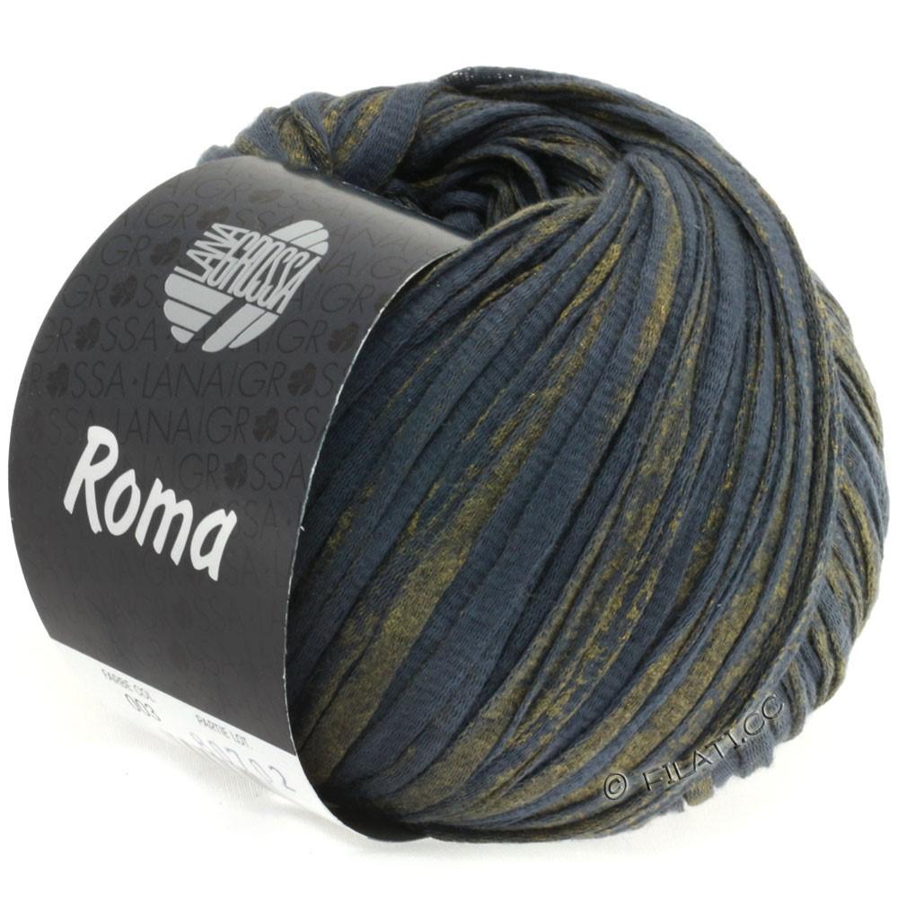 Lana Grossa ROMA | 003-Anthrazit/Gold