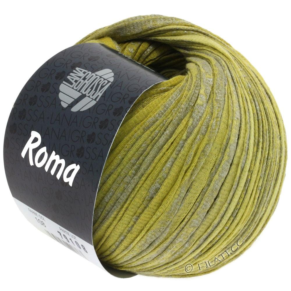 Lana Grossa ROMA | 108-Limette/Senfgelb/Silber