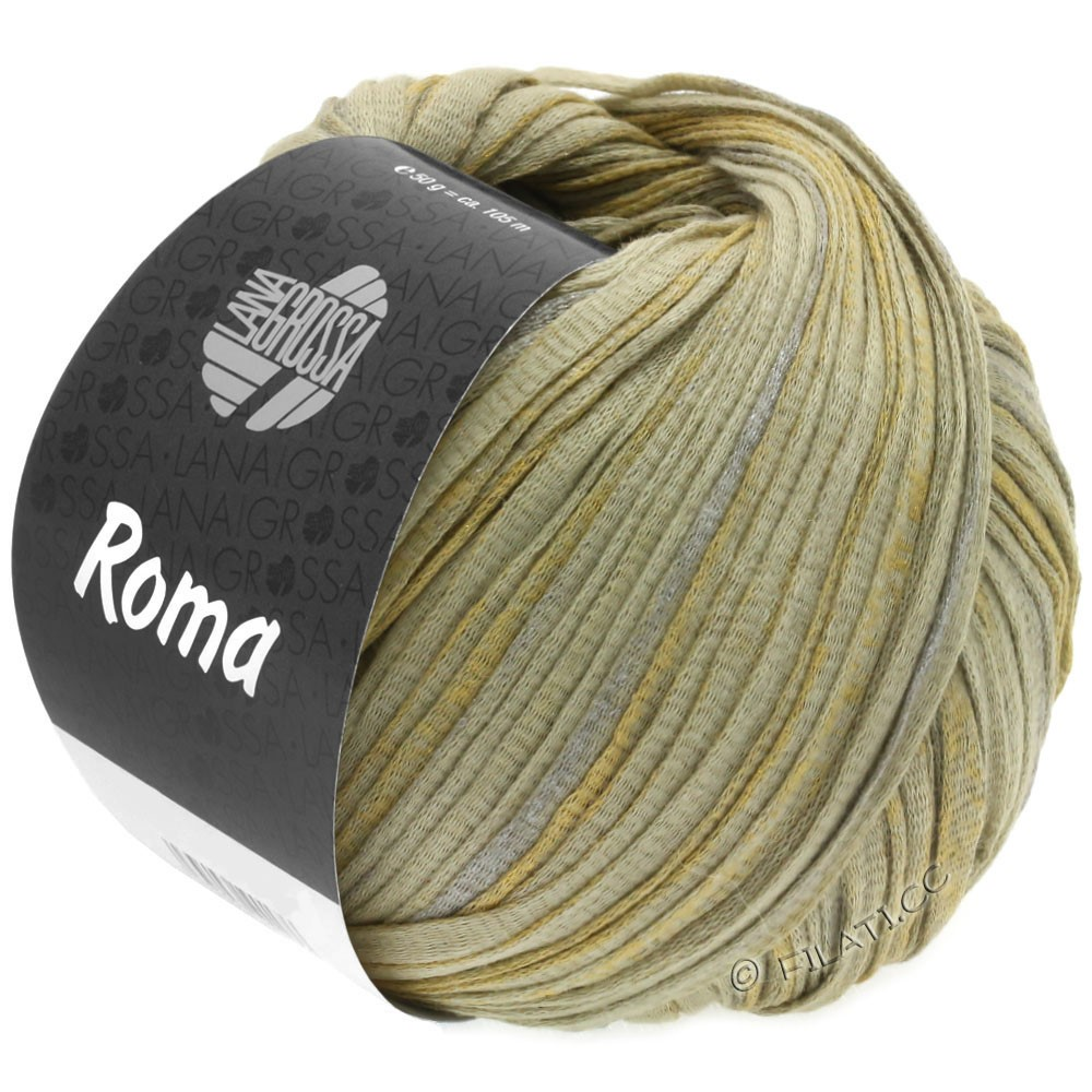 Lana Grossa ROMA | 028-Grünbeige/Silber/Gold