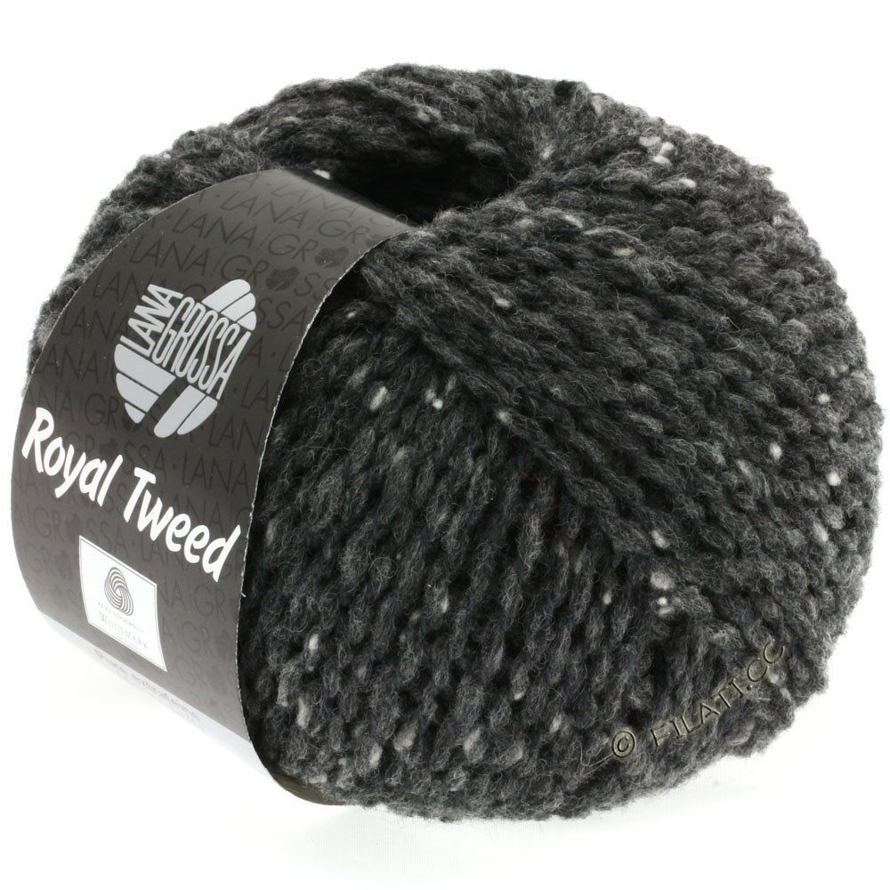 Lana Grossa ROYAL TWEED | 06-Anthrazit meliert