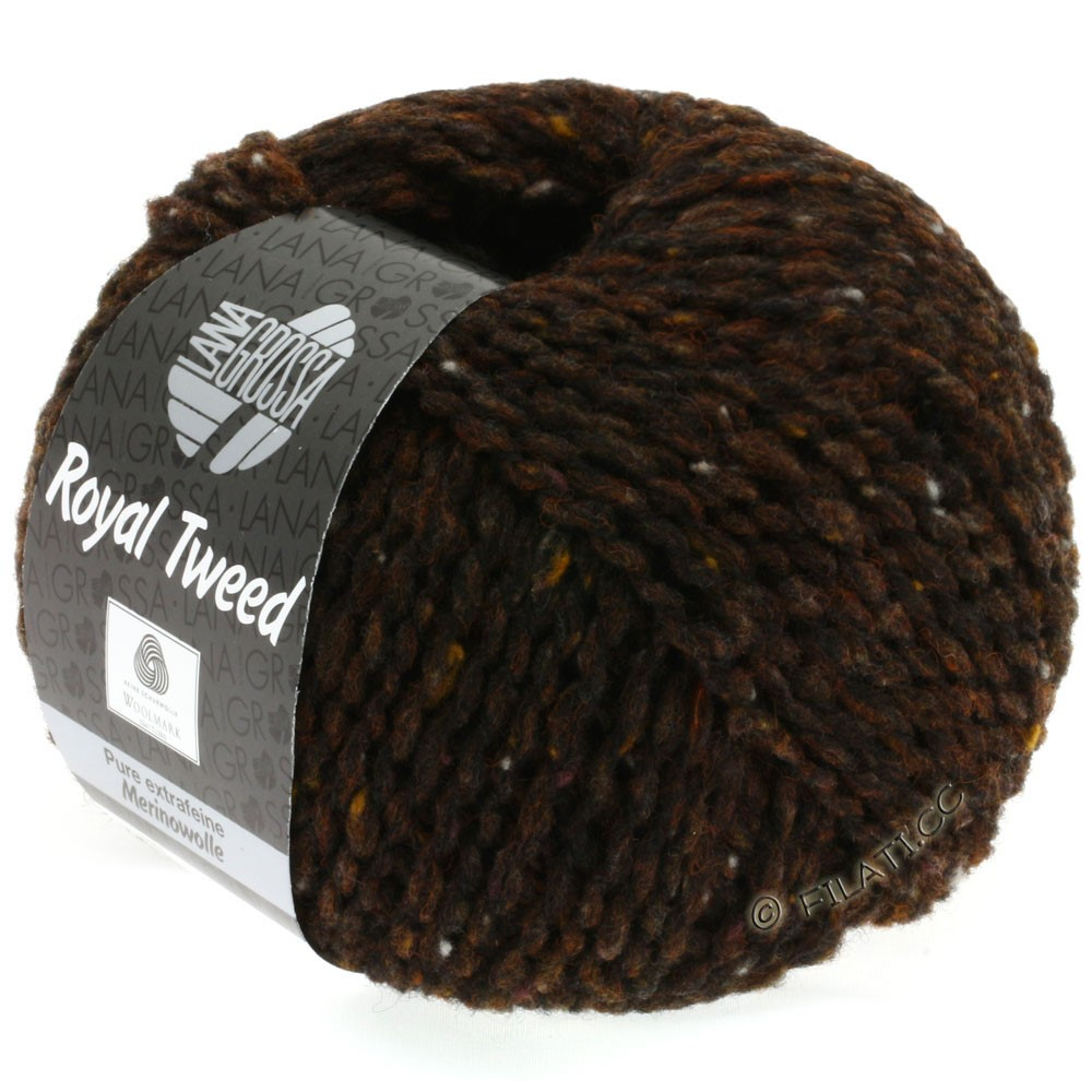Lana Grossa ROYAL TWEED | 09-Dunkelbraun meliert