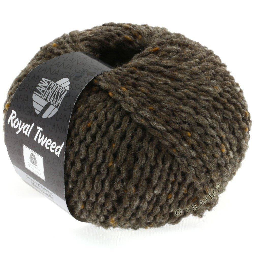 Lana Grossa ROYAL TWEED | 12-Graubraun meliert