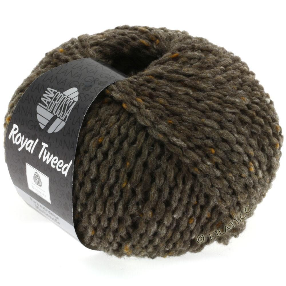 Lana Grossa ROYAL TWEED | 12-Graubraun meliert