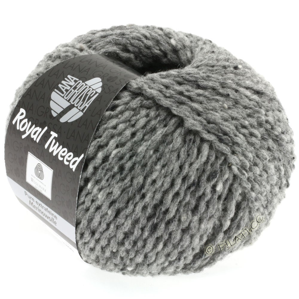 Lana Grossa ROYAL TWEED | 14-Grau meliert