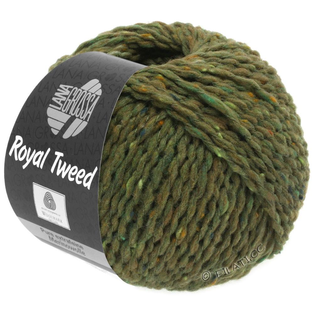 Lana Grossa ROYAL TWEED | 69-Oliv meliert
