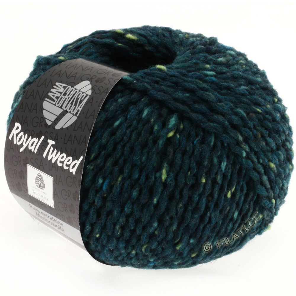 Lana Grossa ROYAL TWEED | 76-Dunkelpetrol meliert