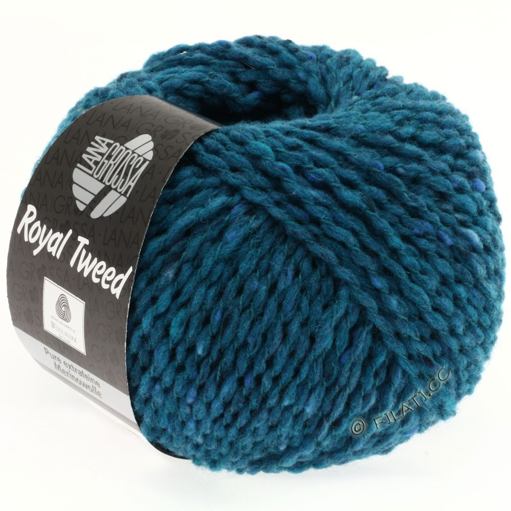 Lana Grossa ROYAL TWEED | 77-Petrolblau meliert