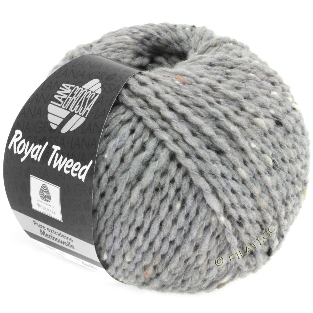 Lana Grossa ROYAL TWEED | 82-Hellgrau meliert