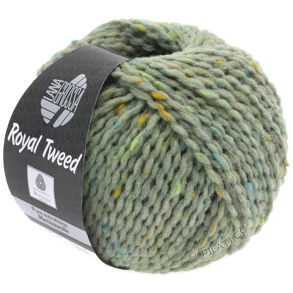 Lana Grossa ROYAL TWEED | 83-Mint meliert
