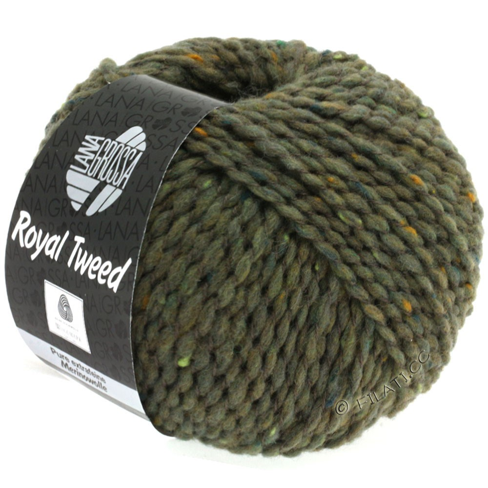Lana Grossa ROYAL TWEED | 84-Schlamm meliert