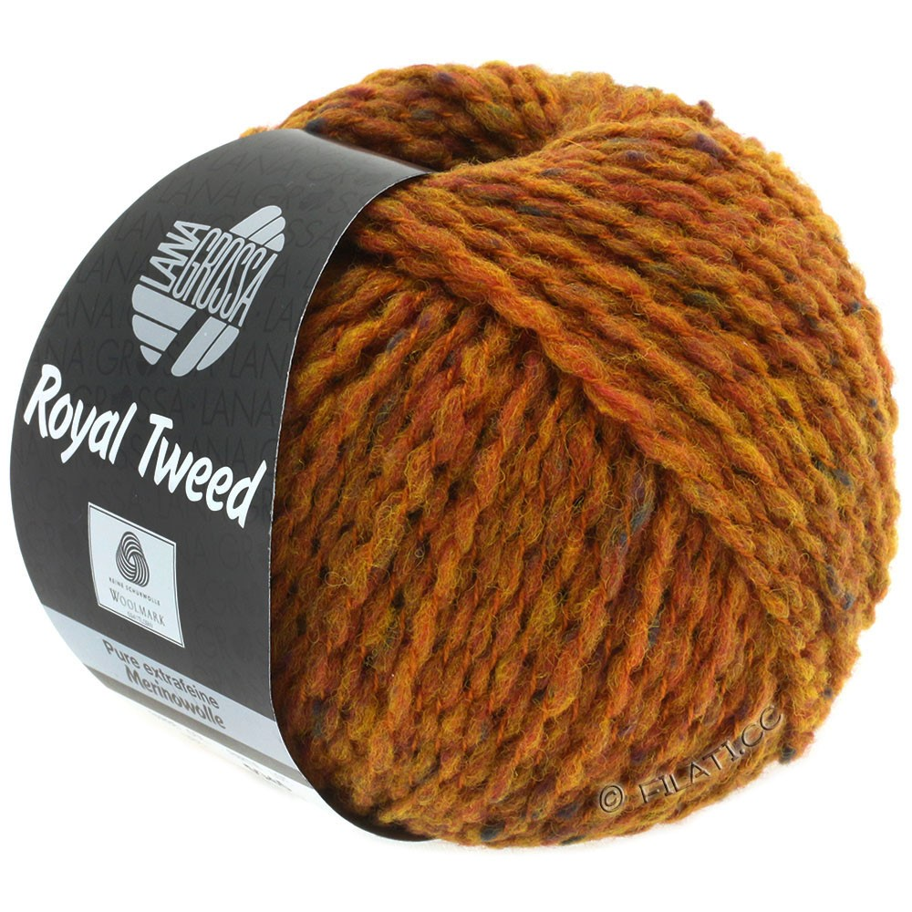 Lana Grossa ROYAL TWEED | 86-Goldbraun meliert