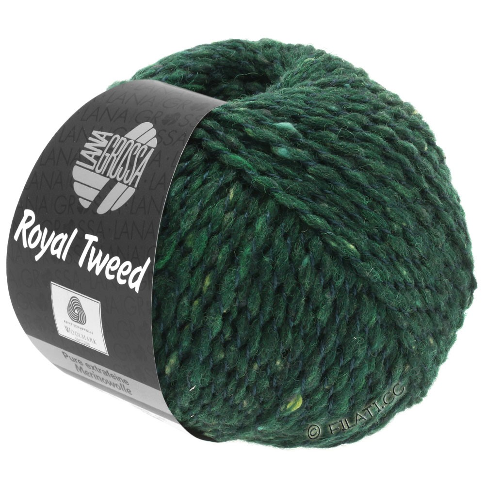 Lana Grossa ROYAL TWEED | 90-Dunkelgrün meliert