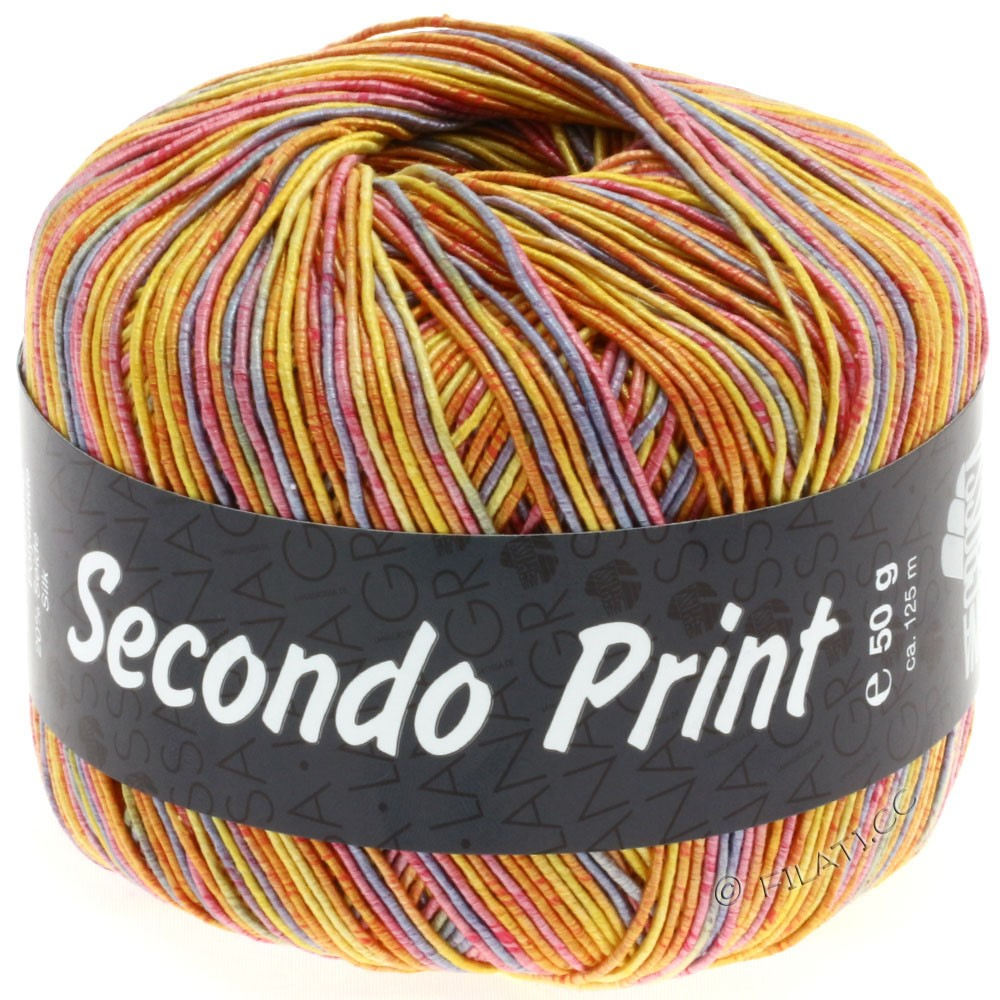 Lana Grossa SECONDO Print II | 501-Gelb/Orange/Lila/Pink