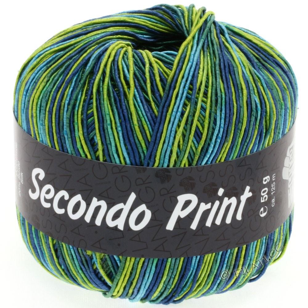Lana Grossa SECONDO Print II | 502-Limette/Türkis/Petrol/Jeans/Smaragd