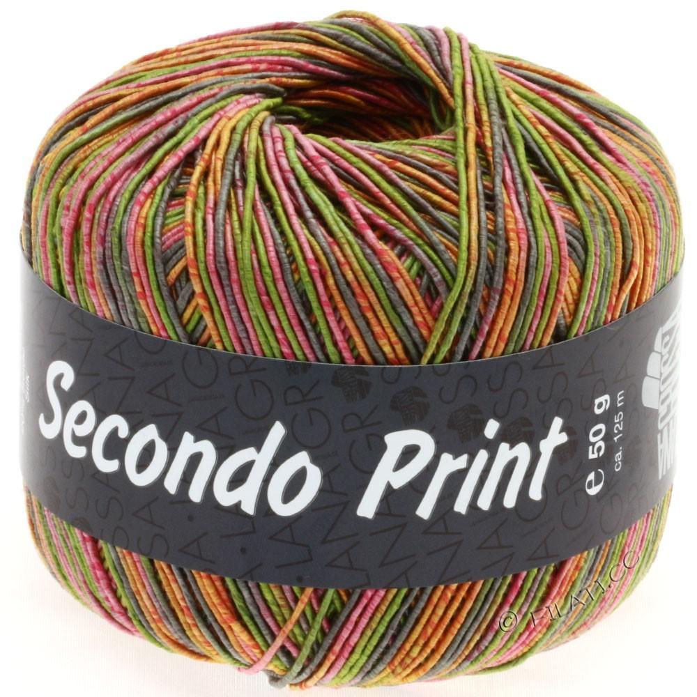 Lana Grossa SECONDO Print II | 503-Oliv/Pink/Orange/Taupe
