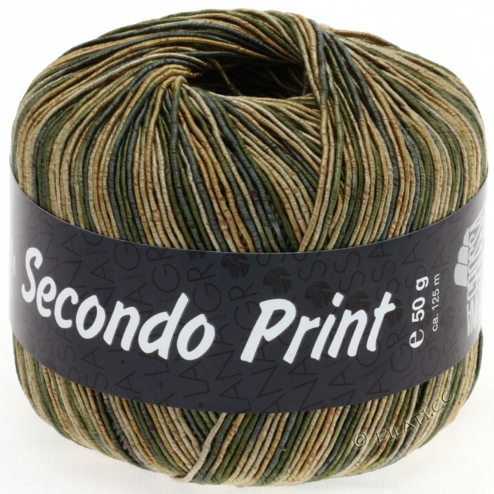 Lana Grossa SECONDO Print II | 509-Gold/Graugrün/Beige