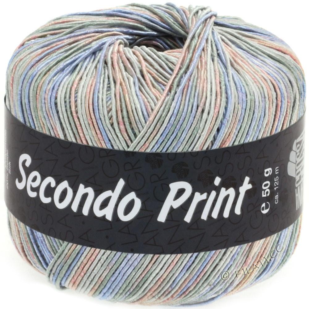 Lana Grossa SECONDO Print II | 511-Hellgrau/Jeans/Rosa/Graugrün