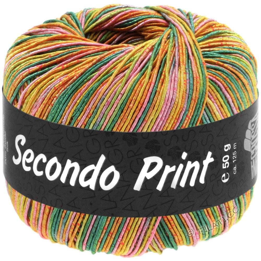 Lana Grossa SECONDO Print II | 515-Smaragd/Pistazie/Apricot/Pink