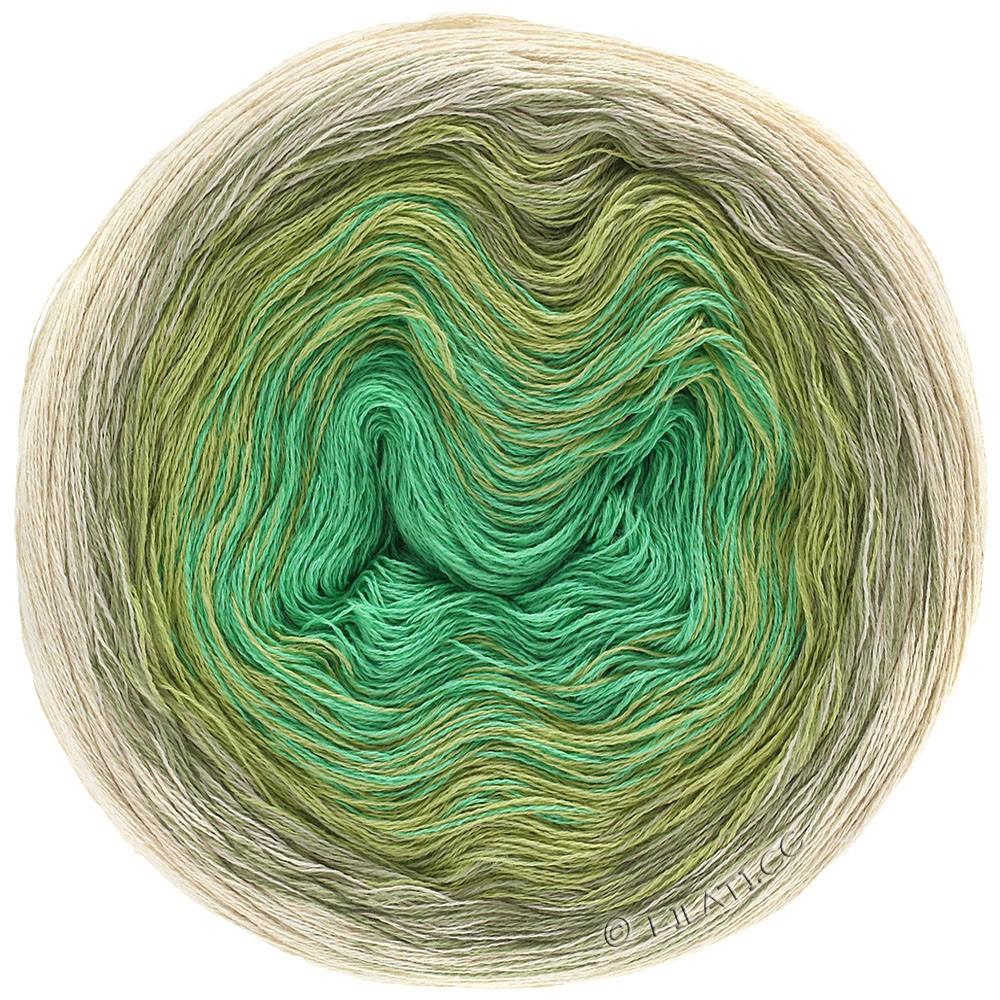 Lana Grossa SHADES OF COTTON LINEN | 706-Natur/Beige/Schilfgrün/Jade