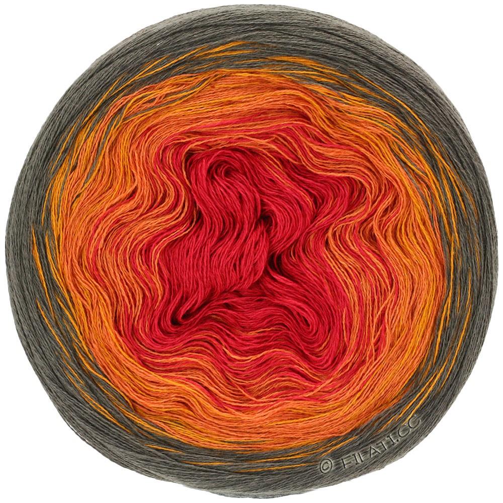 Lana Grossa SHADES OF COTTON LINEN | 707-Mokka/Gold/Orange/Rot