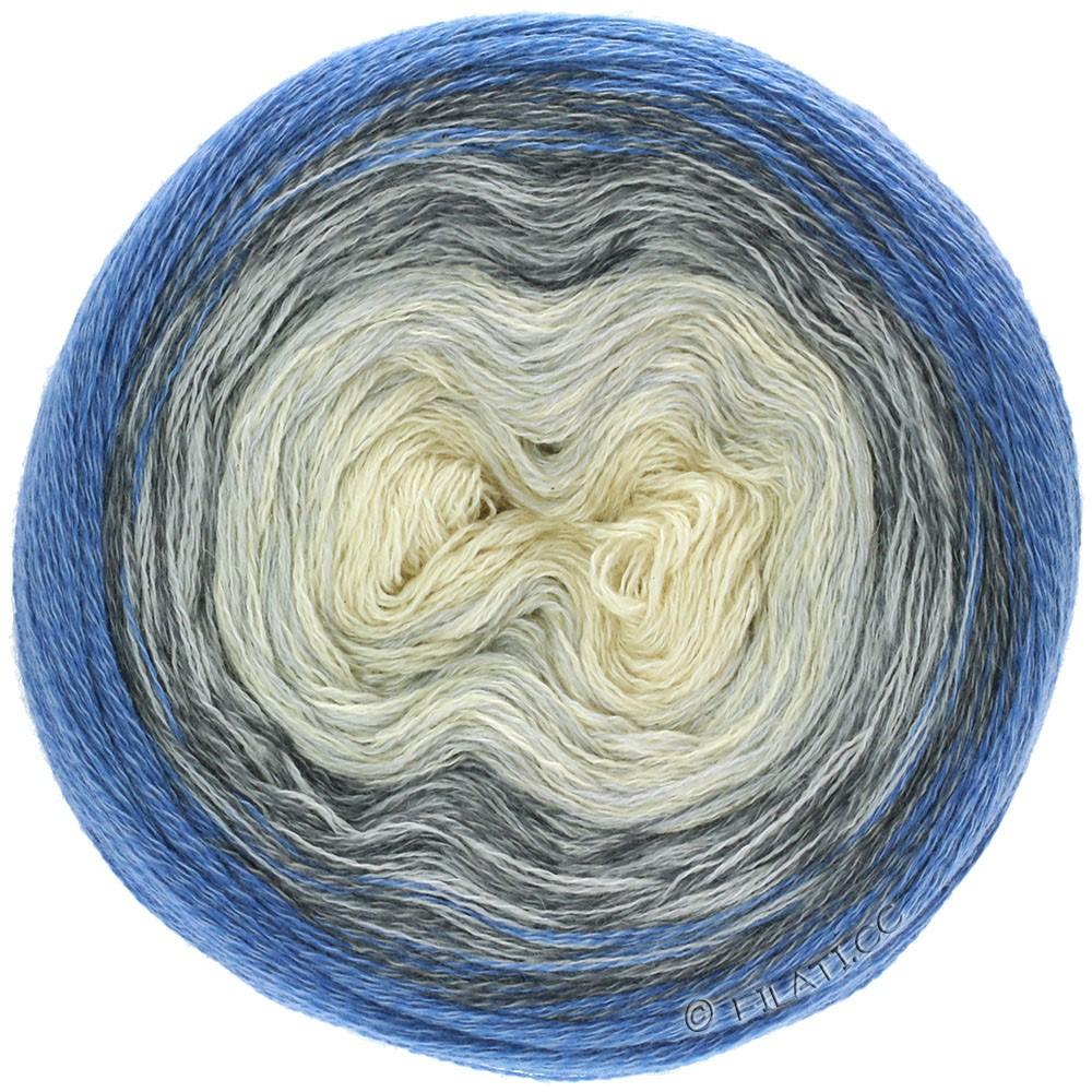 Lana Grossa SHADES OF MERINO COTTON   408-Rohweiß/Silbergrau/Grau/Blau