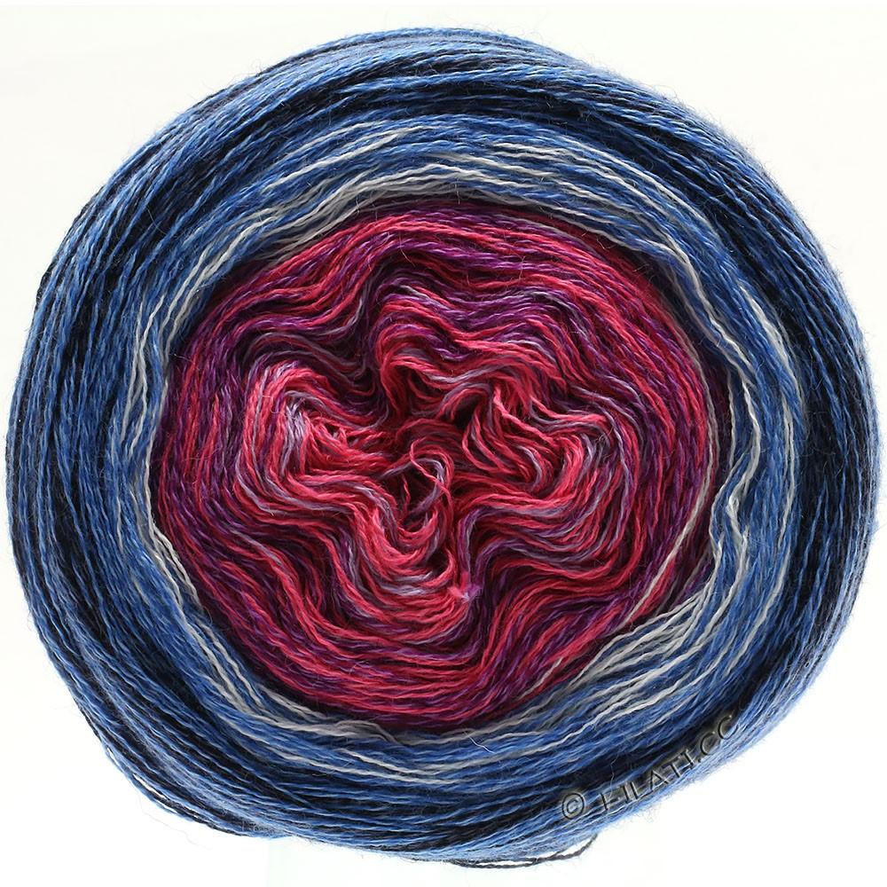 Lana Grossa SHADES OF MERINO COTTON   604-Fliederpink/Violett/Weiß/Mittelblau/Taubenblau
