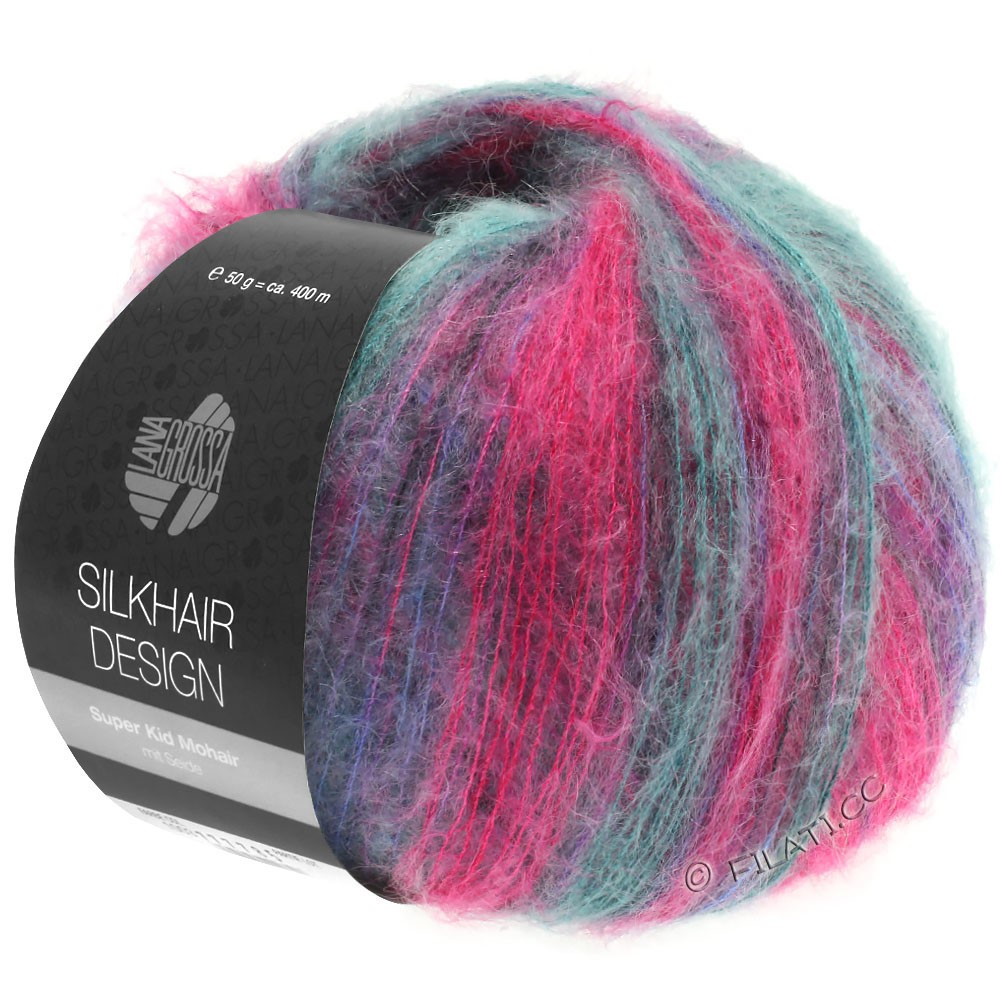 Lana Grossa SILKHAIR Design | 1004-Pink/Brombeer/Petrol/Blauviolett